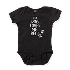 The Dog Loves Me Best Baby Bodysuit