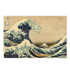 Japanese Great Waves Postcards (Package of 8)