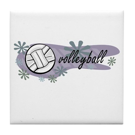 Volley Ball Tile Coaster