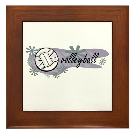 Volley Ball Framed Tile
