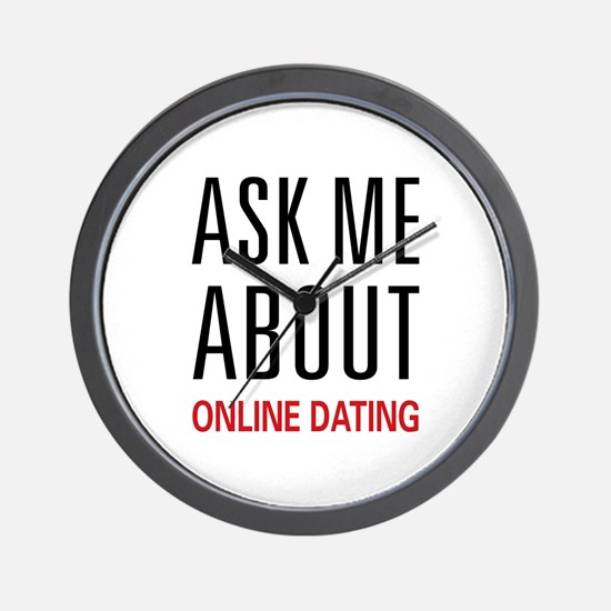 Ask Me Online Dating Wall Clock