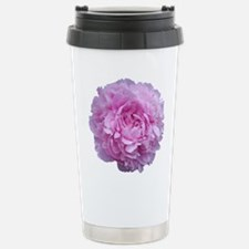 Pink Peony Flower Stainless Steel Travel Mug