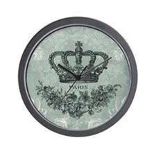 modern vintage french crown Wall Clock