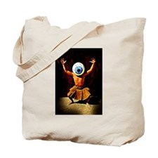 Burning Man Eyeball Guy Tote Bag