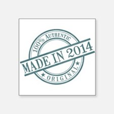 "Made in 2014 Square Sticker 3"" x 3"""