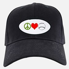 PEACE LOVE BASEBALL Baseball Hat