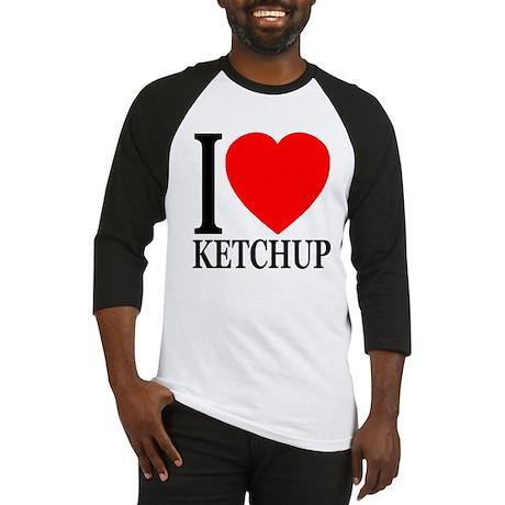 I Love Ketchup Classic Heart Baseball Jersey