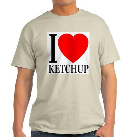 I Love Ketchup Classic Heart Light T-Shirt