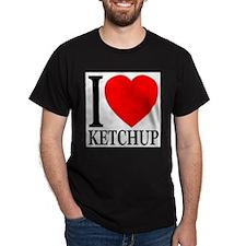 I Love Ketchup Classic Heart T-Shirt