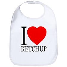 I Love Ketchup Classic Heart Bib