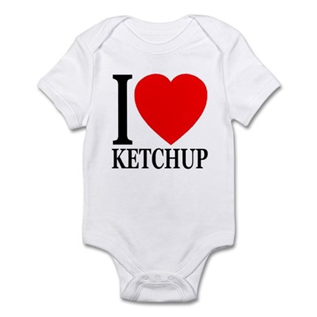 I Love Ketchup Classic Heart Infant Bodysuit