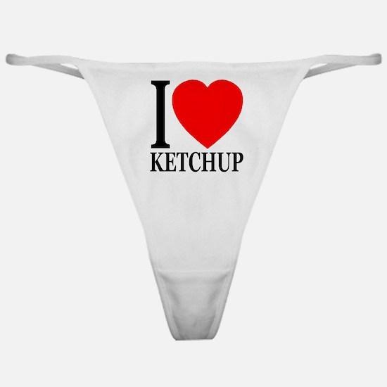 I Love Ketchup Classic Heart Classic Thong