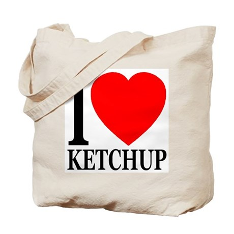 I Love Ketchup Classic Heart Tote Bag