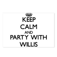 Keep calm and Party with Willis Postcards (Package