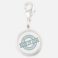 Made in 1936 Silver Round Charm