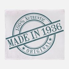 Made in 1936 Throw Blanket