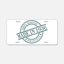 Made in 1936 Aluminum License Plate