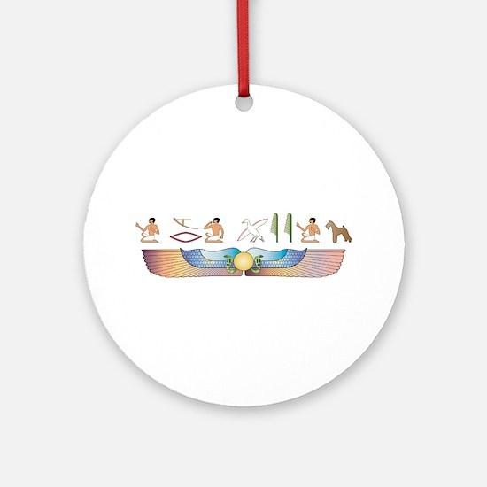 Foxie Hieroglyphs Ornament (Round)