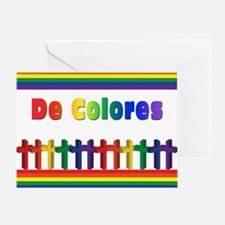 Marching Rainbow Crosses Greeting Cards