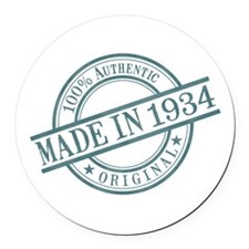 Made in 1934 Round Car Magnet