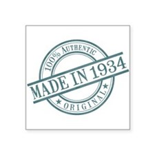 "Made in 1934 Square Sticker 3"" x 3"""