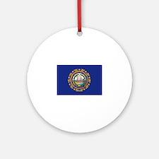 New Hampshire Flag Ornament (Round)