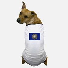 New Hampshire Flag Dog T-Shirt