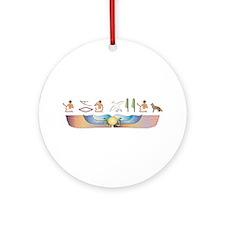 Shepherd Hieroglyphs Ornament (Round)