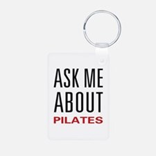 Ask Me About Pilates Keychains