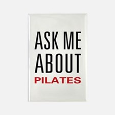 Ask Me Pilates Rectangle Magnet (10 pack)