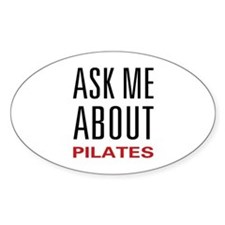 Ask Me Pilates Oval Decal