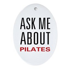 Ask Me Pilates Oval Ornament