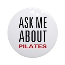 Ask Me Pilates Ornament (Round)