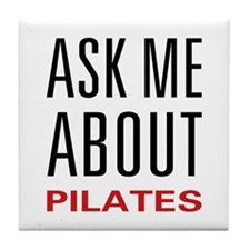 Ask Me Pilates Tile Coaster