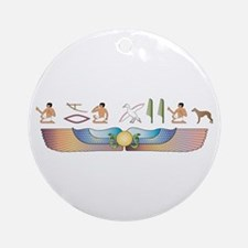 Whippet Hieroglyphs Ornament (Round)