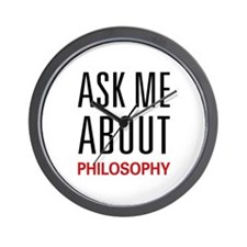 Ask Me About Philosophy Wall Clock