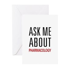 Ask Me About Pharmacology Greeting Cards (Pk of 20