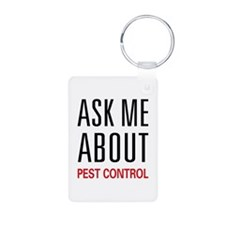 Ask Me About Pest Control Keychains