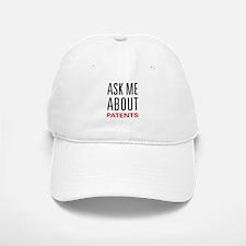 Ask Me About Patents Baseball Baseball Cap
