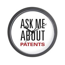 Ask Me About Patents Wall Clock