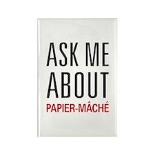 Ask Me About Papier-mâché Rectangle Magnet (10 pac