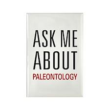 Ask Me About Paleontology Rectangle Magnet