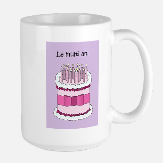 Romanian Happy Birthday Cake Mugs