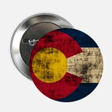 "Grunge Colorado Flag 2.25"" Button (100 pack)"