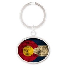 Grunge Colorado Flag Keychains