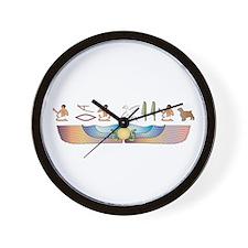Welshie Hieroglyphs Wall Clock