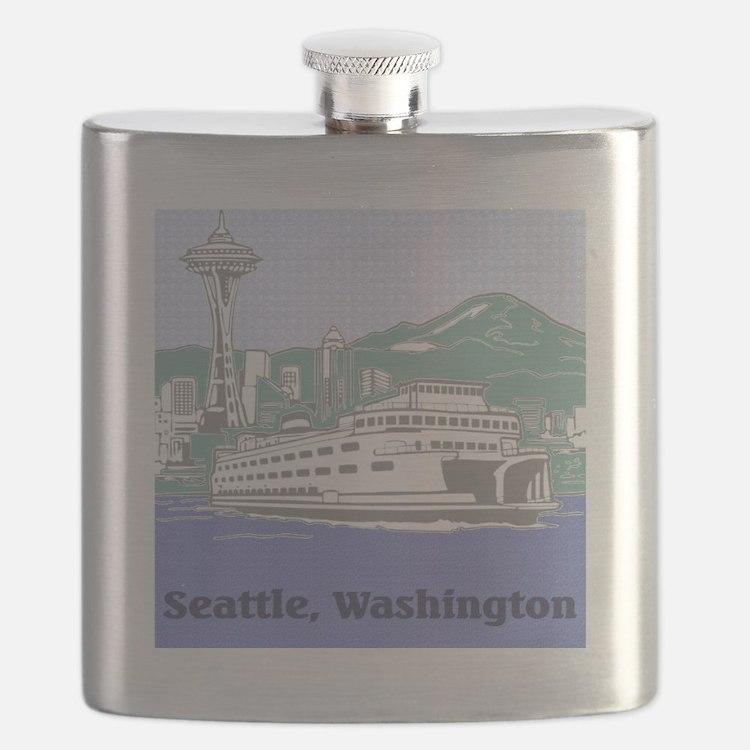 Seattle Washington Flask