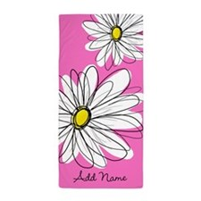 Whimsical Flowers -... Beach Towel
