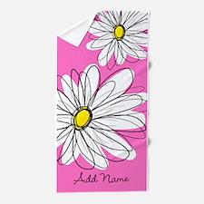 Whimsical Flowers -... Beach Towel