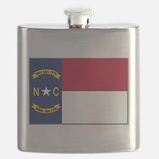North Carolina Flag Flask